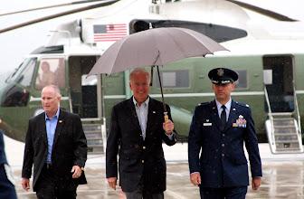 Photo: Joe Biden at Joint Base Andrews.