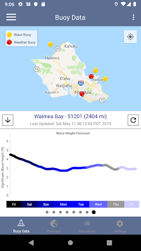 NOAA Marine Weather Forecast App Report on Mobile Action