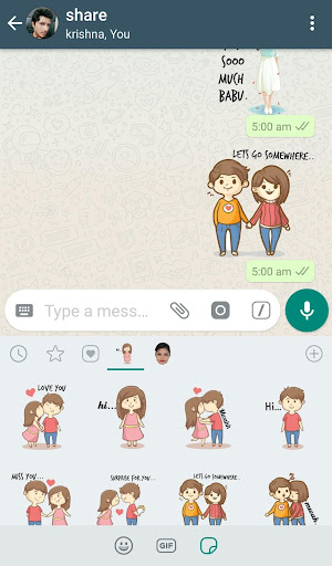 WAStickerApps - Love Stickers Pack 1.4 screenshots 3