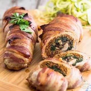 Spinach and Italian Sausage Stuffed Pork Tenderloin.