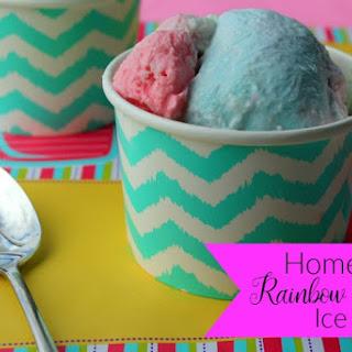 Homemade Rainbow Sherbet Ice Cream