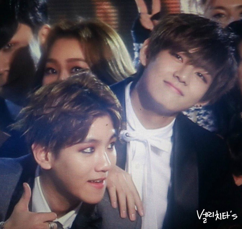 baekhyun and v