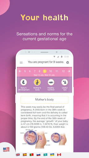 Pregnancy Tracker: Baby Due Date Calculator 2.7.11.3 screenshots 2