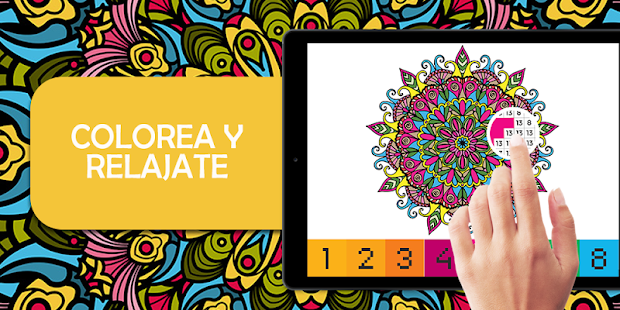 Colorear Por Numeros Mandala Pixel Art Apps En Google Play