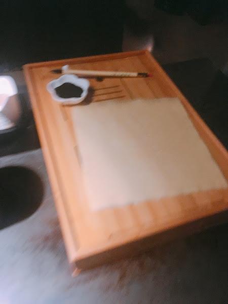 創新菜色豆皮紙很有趣,可以用墨魚汁寫字