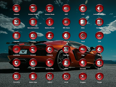 Dap Red - Icon Pack screenshot 13