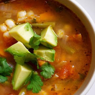 Soup of the Day... Mexican Vegetable Soup with Lime and Avocado.