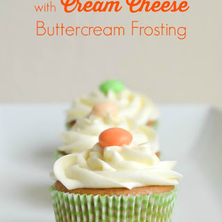 Carrot Cake Cupcakes with Cream Cheese Buttercream Frosting