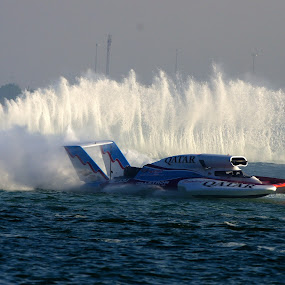 National Day of Qatar by John Anthony - Sports & Fitness Watersports ( speed boat, doha, qatar )