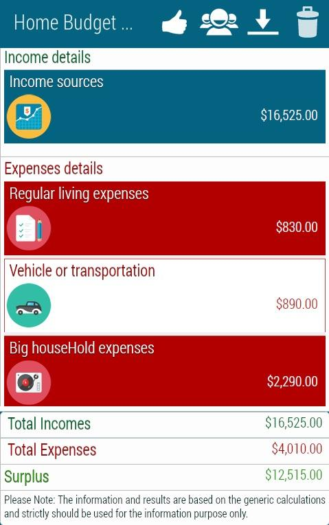 Home Budget Calculator - Android Apps On Google Play