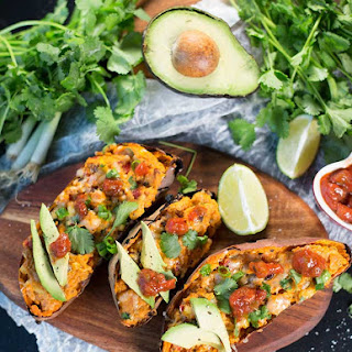 Mexican Stuffed Sweet Potatoes.