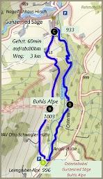 Rundtour Gunzesried Naturpark Nagelfluhkette Allgäu