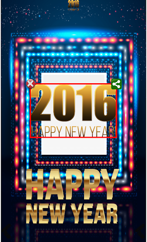 android 2016 New Year Frames Screenshot 1