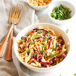 Asian Cabbage Salad with Ginger Peanut Dressing Recipe