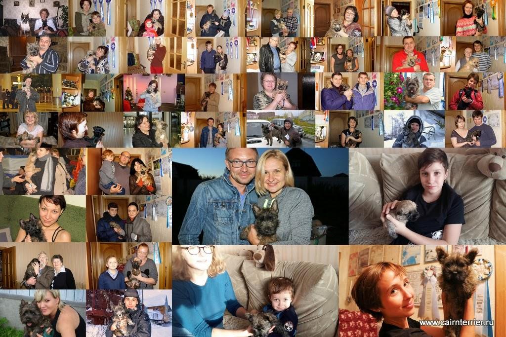 Фото владельцев с щенками керн терьера питомника Еливс