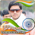 India Flag Face Photo Maker & 15th August DP icon