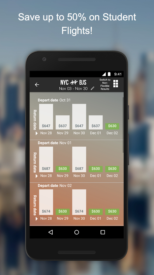 Flights By Studentuniverse Android Apps On Google Play