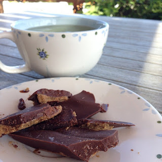Raw Chocolate with Coconut and Almond Butter filling