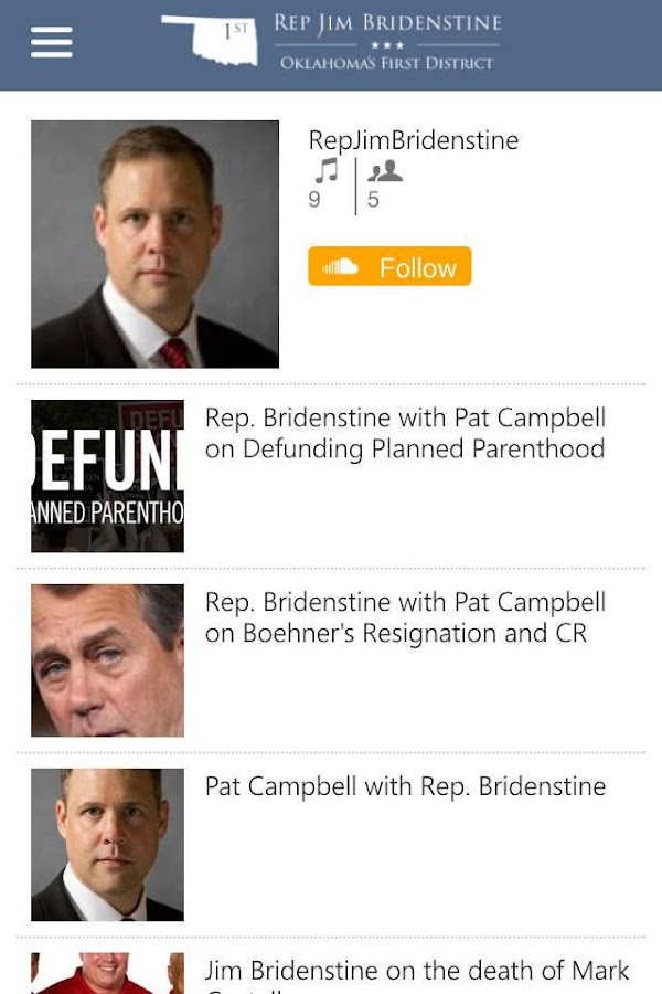 Congressman Jim Bridenstine- screenshot