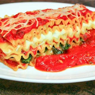 Sauteed Spinach Vegetarian Lasagna