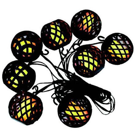 Flammande Ljusslinga 8st LED lyktor