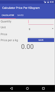 Calculator Price per kg/liter- screenshot thumbnail