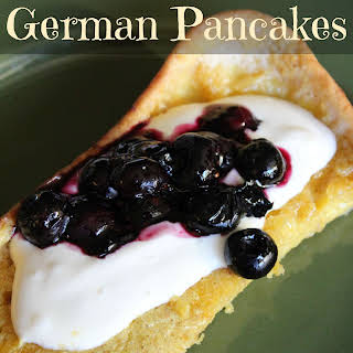 Clean Eating German Pancakes.