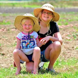 Good Times On The Farm by Jarrod Unruh - Babies & Children Child Portraits ( child photography, child portrait, childhood, field, children, farming, farm, farmland, child,  )