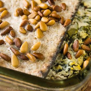 Spinach-Matzo Pie.