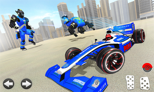 Police Chase Formula Car Transform Cop Robot Games 1.0.0 Mod + Data for Android 3
