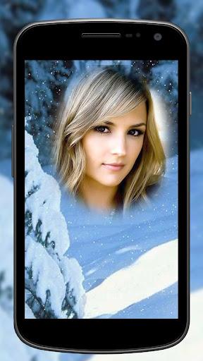 눈이 사진 프레임