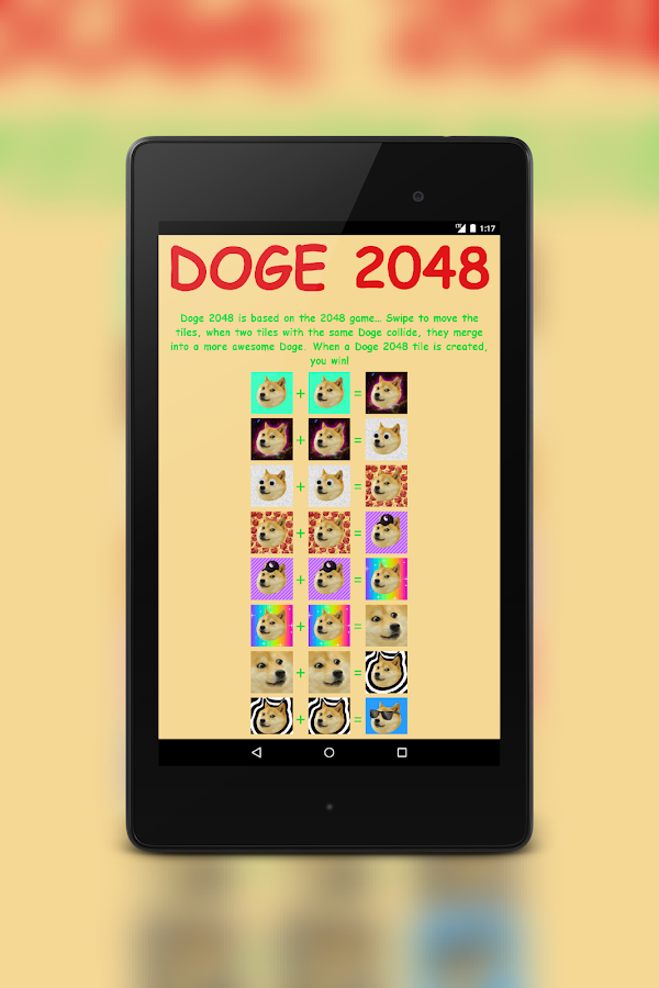 Doge 2048- screenshot
