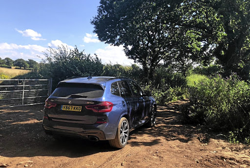 It's hardly hard-core off-roading but the X3 coped with a farm road rather well. Picture: MARK SMYTH
