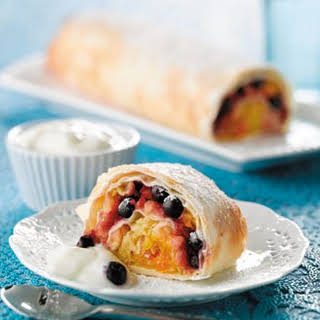 Apple And Blueberry Strudel.