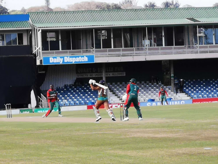 Border's Marco Marais in action against Kenya during the Africa Cup T20 competition on Saturday afternoon.