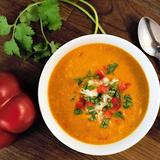 Sweet Potato Coconut Crab Soup