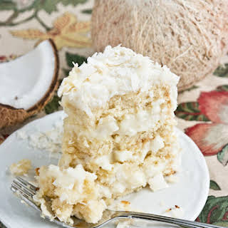 Fresh Coconut Dream Cake.
