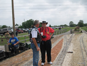 Photo: Ron Pasley engineer with talkers Ken Smith and Clyde Brown.     HALS 2009-0919