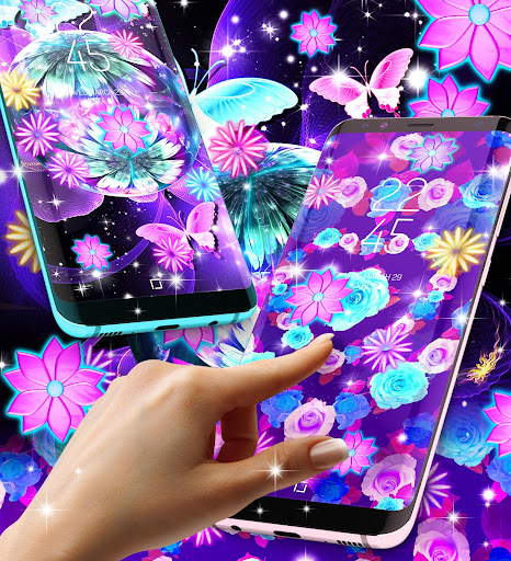 Neon flowers live wallpaper ss2