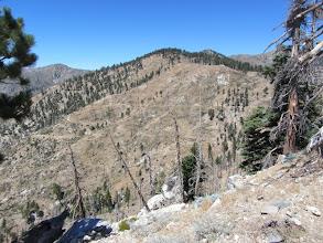 Photo: View north back toward Hawkins Ridge, Sadie Hawkins, and Middle Hawkins