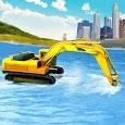 River Sand Excavator Simulator: Crane Game