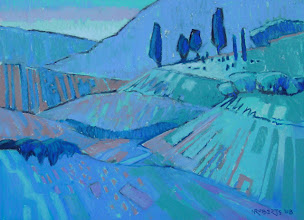 Photo: Black Diamond Blues, pastel by Nancy Roberts, copyright 2014. Private collection.