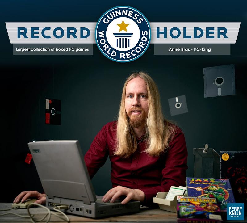 Tentoonstelling van 's werelds grootste collectie big box PC games