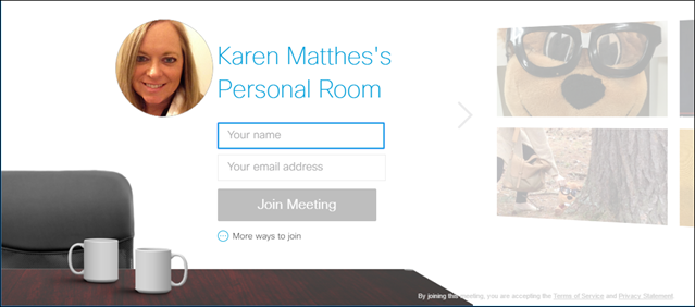 WebEx: Your Personal Meeting Room