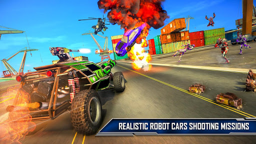 Ramp Car Robot Transforming Game: Robot Car Games screenshots 14