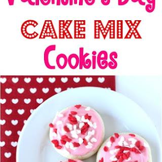 Valentine's Day Cake Mix Cookies Recipe!