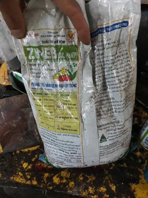 Thuốc trừ bệnh Zineb trị đốm lá có bổ sung vi lượng Kẽm hỗ trợ kháng nấm