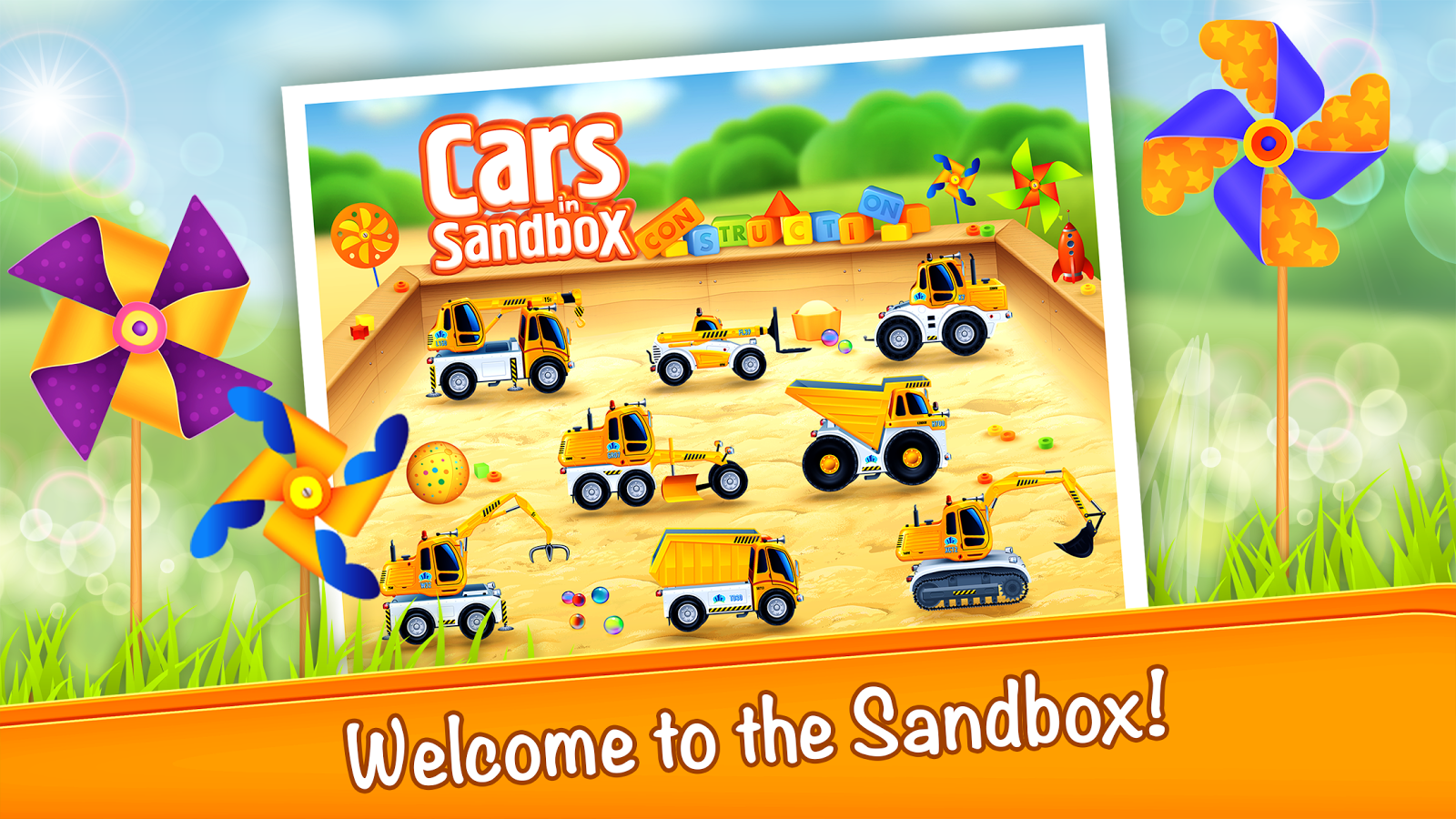 Kids vehicles in sandbox PRO- screenshot