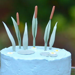 Almond & Raspberry Cattails Cake