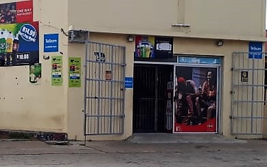 The store that was robbed in Swartkops on Tuesday night